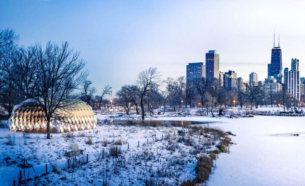 Lincoln park en invierno