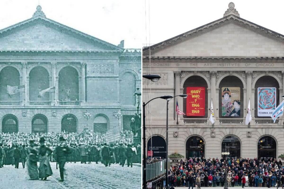 El museo original fue construido en 1893 para la Exposición Colombina del Mundo del mismo año